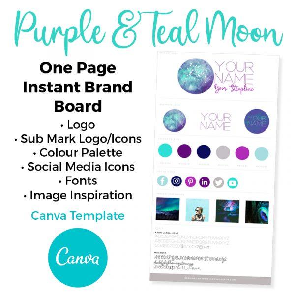 Premade Canva Template Brand Board