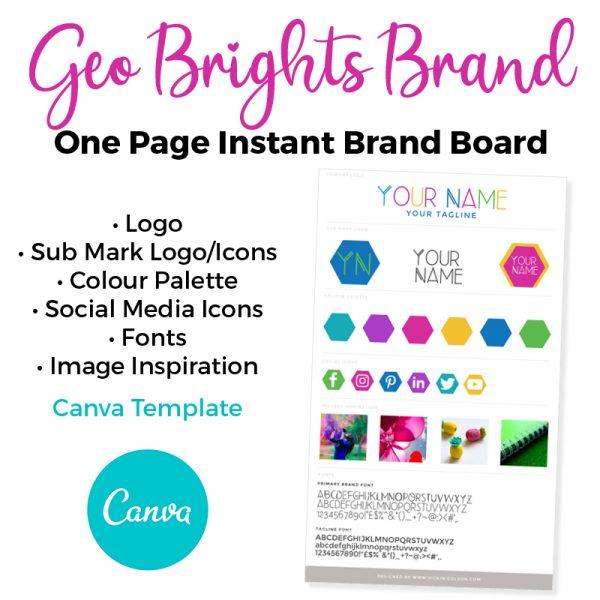 premade canva brand board and logo