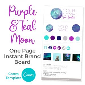 Canva Template Purple & Teal Moon