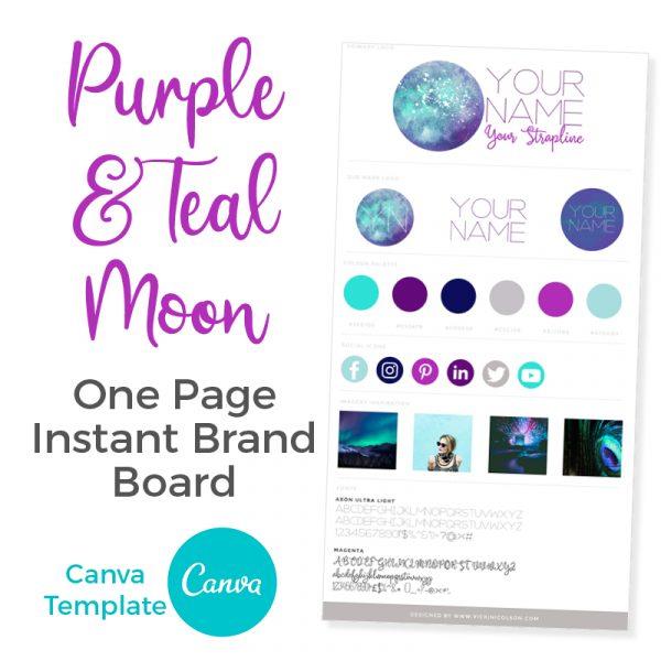 Canva Template Purple & Teal Moon