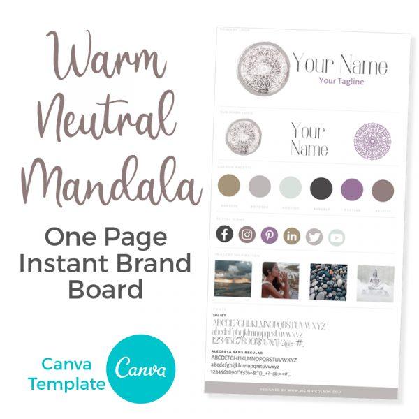 Mandala Premade Branding Canva Template