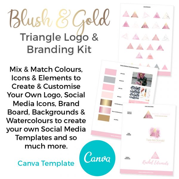Canva Premade branding and logo kit