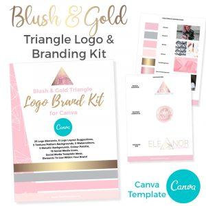 blush & gold branding for canva