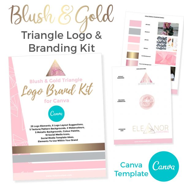 blush & gold branding for canva