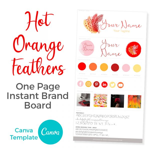 Premade Brand Board Canva Template