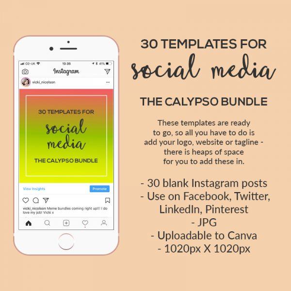 social media templates for instagram