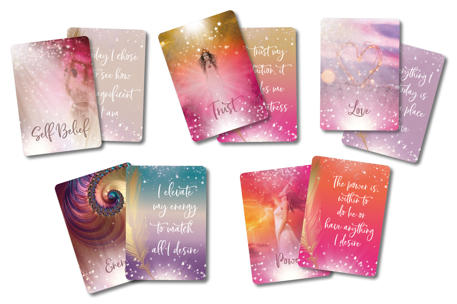 Custom affirmation card design