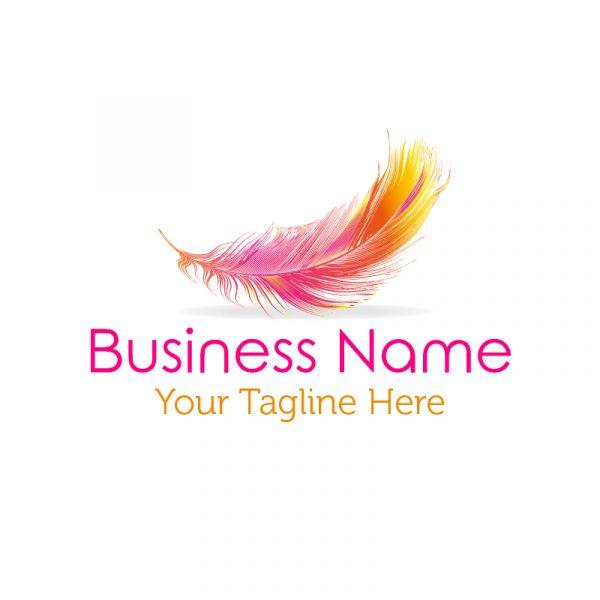 feather logo premade small business logo