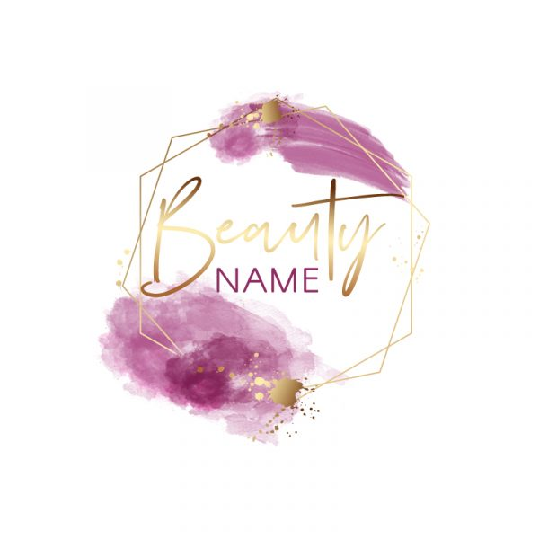 premade logo pink and gold